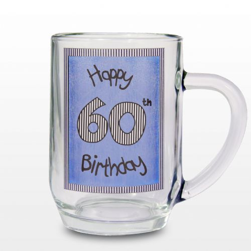 Blue 60th Happy Birthday Tankard Gift Keepsake